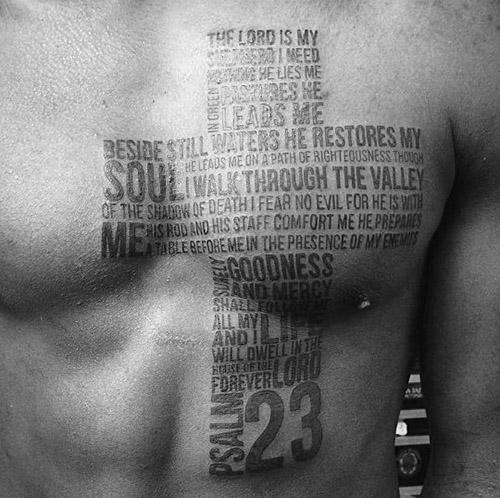 tatouages croisés pour hommes 4