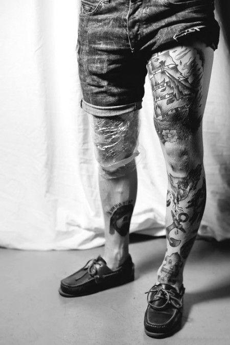 tatouages pour hommes sur les cuisses 2