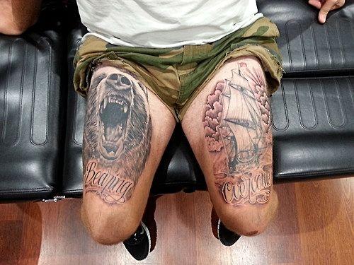tatouages pour hommes sur les cuisses 5