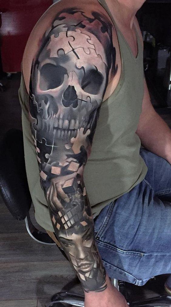 tatouages pour hommes manches longues 1