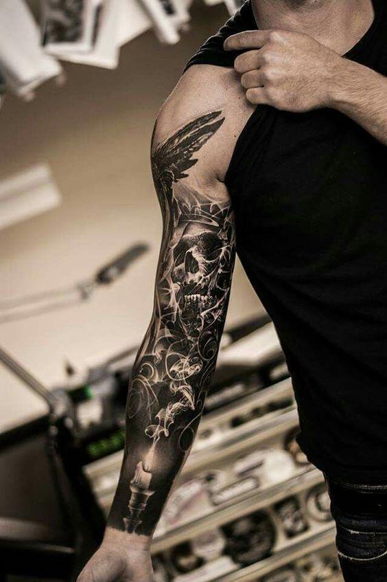 tatouages pour hommes manches longues 2