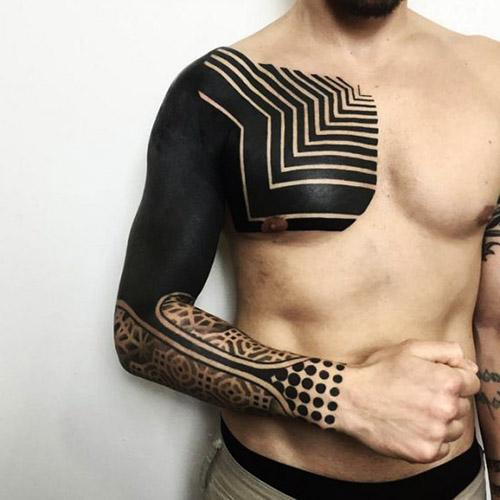 tatouages hommes blackwork couleur 4