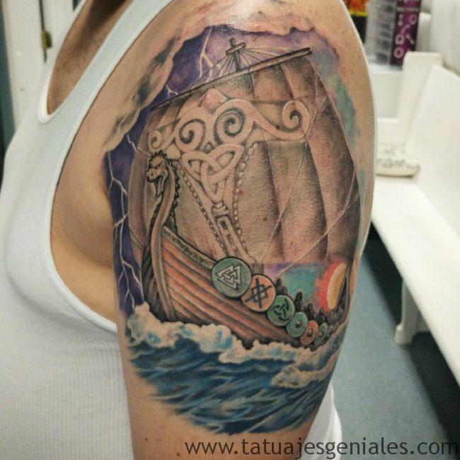 tatouage vikings bateaux 3