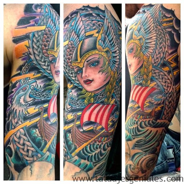 Tatouages de femmes Viking 5