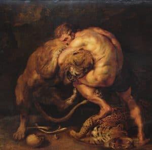 Héraclès et le lion de Némée