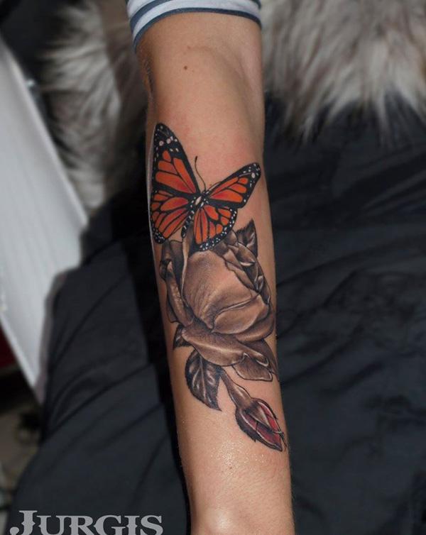 48 Tatouage papillon 3D
