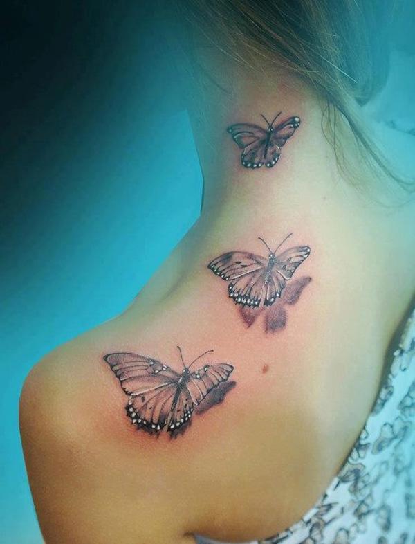 47 Tatouage papillon 3D