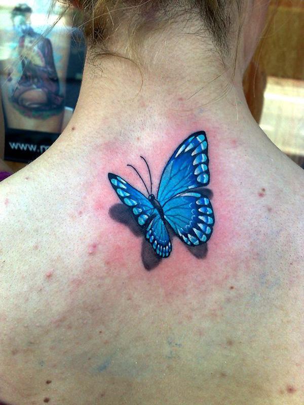 38 Tatouage papillon 3D