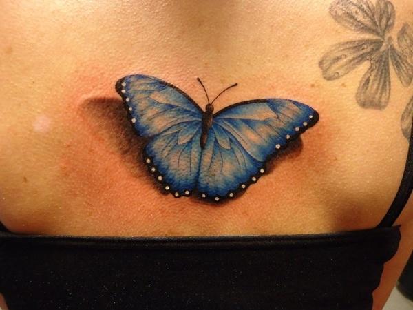 37 Tatouage papillon 3D