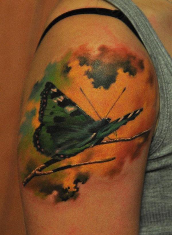 39 Tatouage papillon 3D