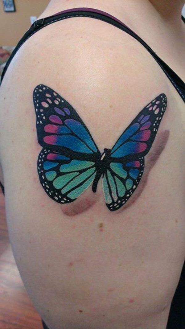 40 Tatouage papillon 3D