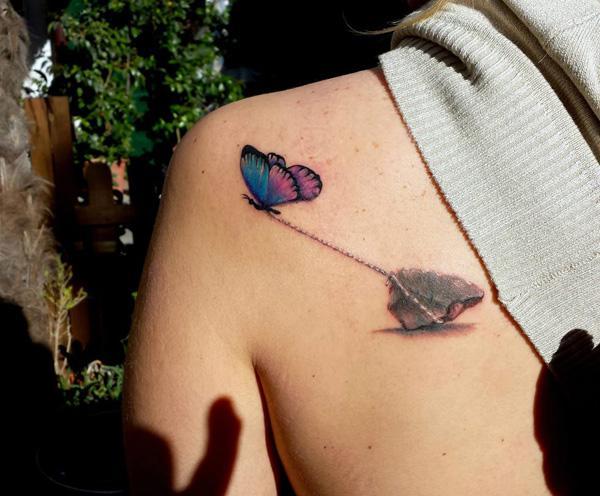 41 Tatouage papillon 3D