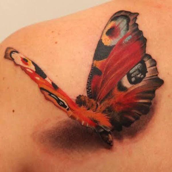 42 Tatouage papillon 3D
