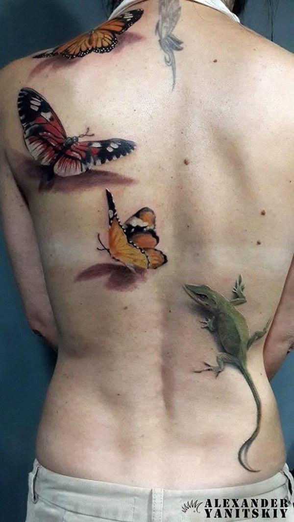 44 tatouages de papillon 3D