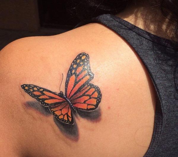 43 Tatouage papillon 3D