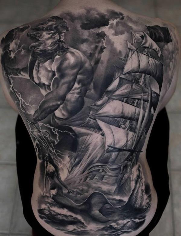 Bateau dos complet tatouage-62