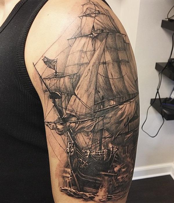 Tatouage de manchon de bateau pour hommes-91