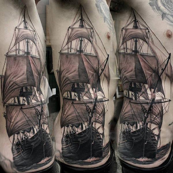 Tatouage de bateau46