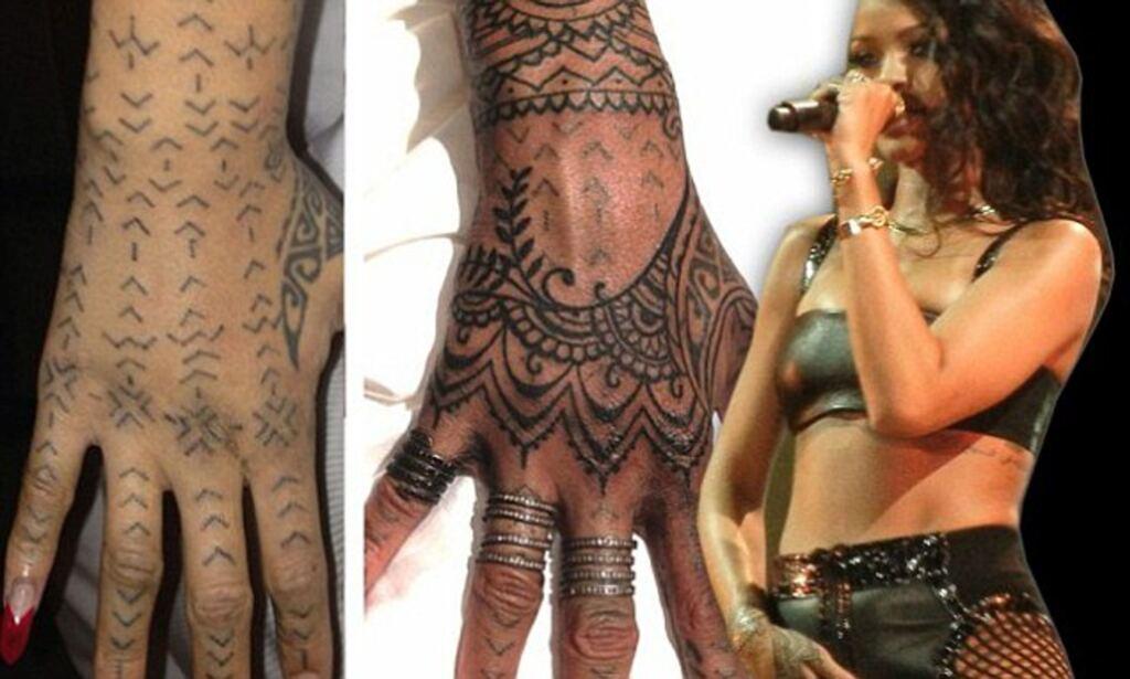 Tatouages tribaux Rihanna